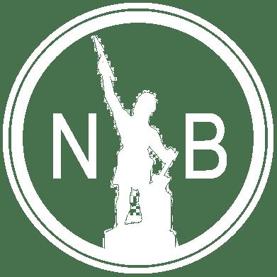 nb logo white